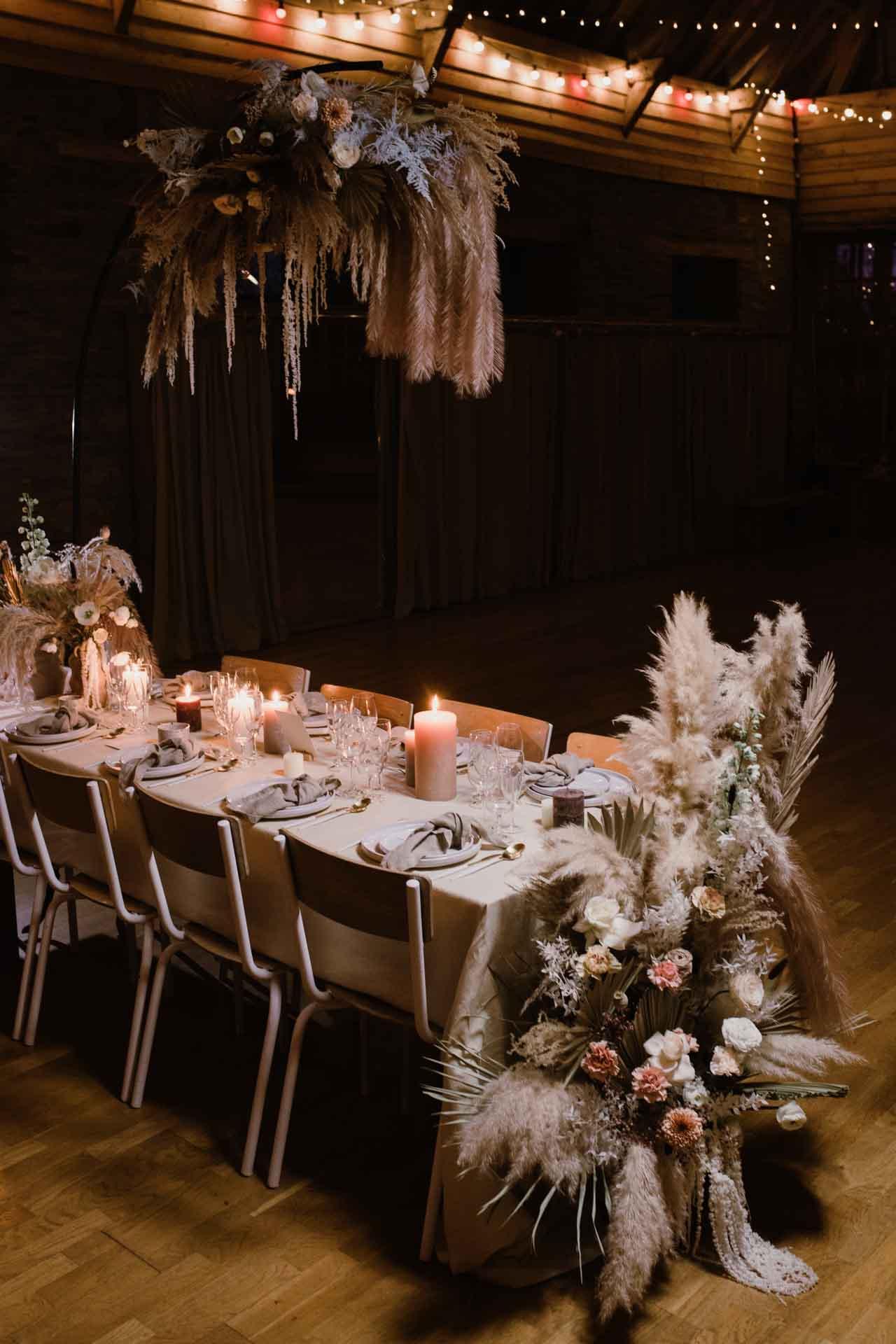 table des invites hivernal simple poetique