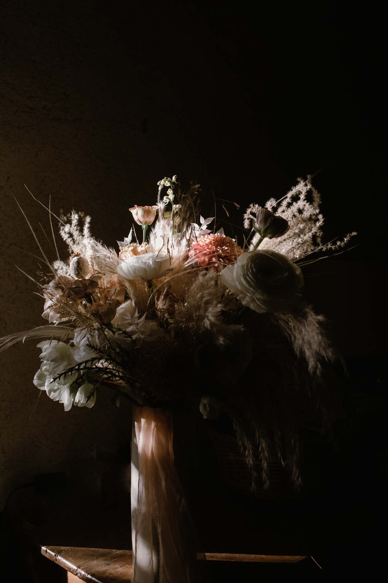 decoration florale hivernale mariage