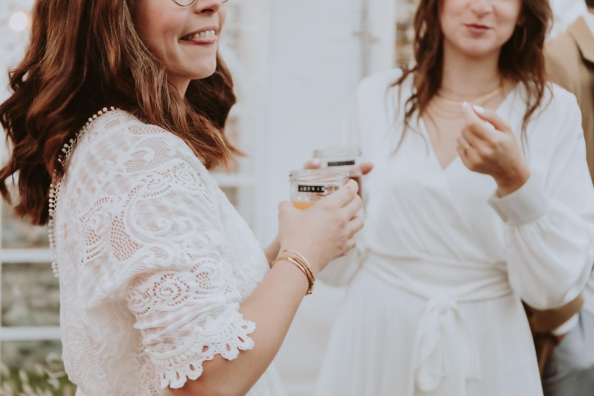 mariage boheme boissons mariees