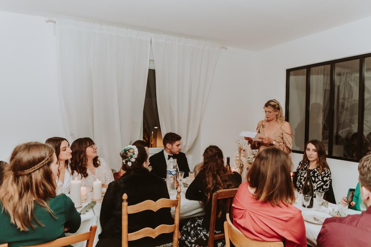 mariage a la maison invites famille repas