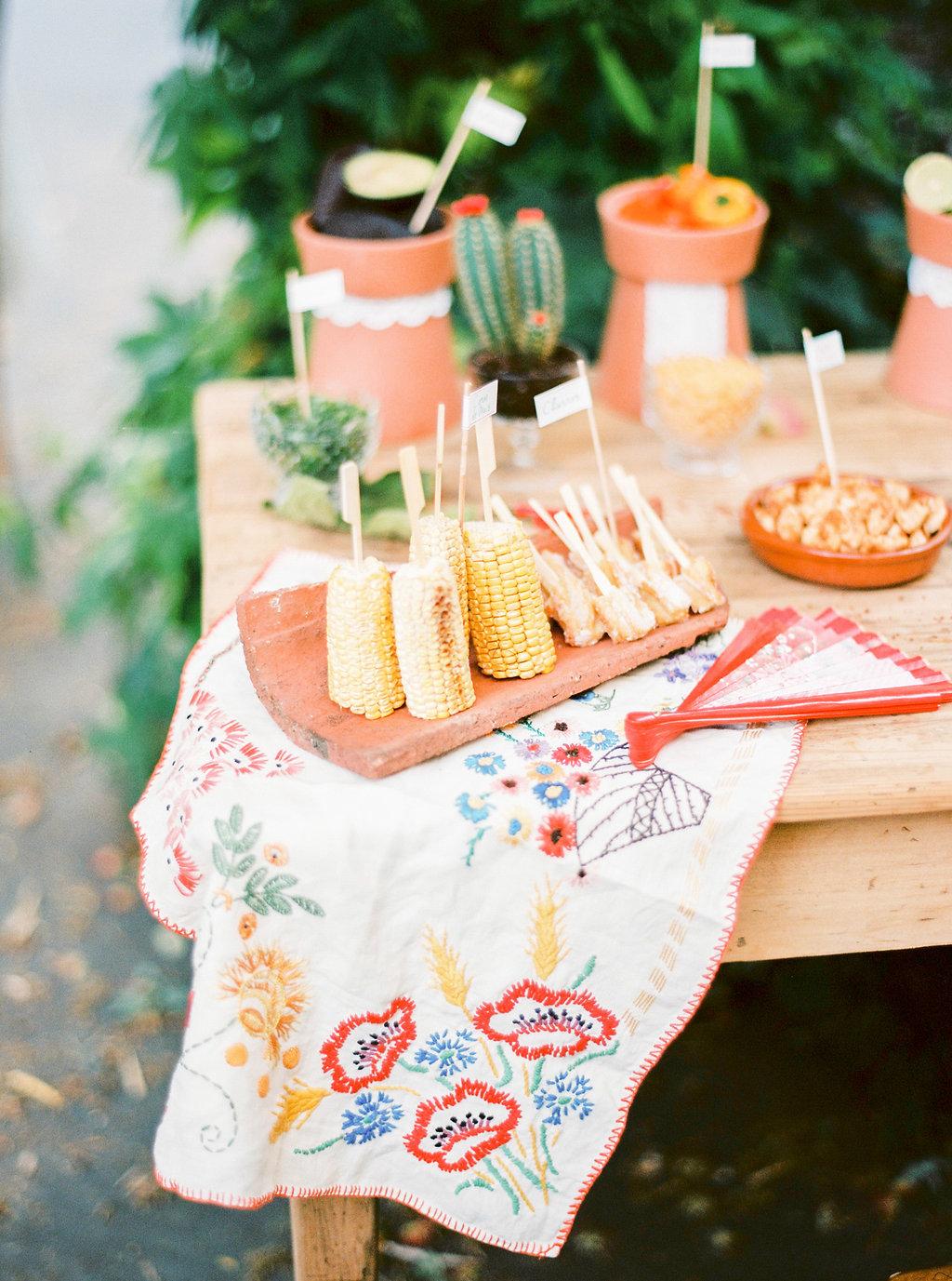 buffet decoration latine mariage boheme