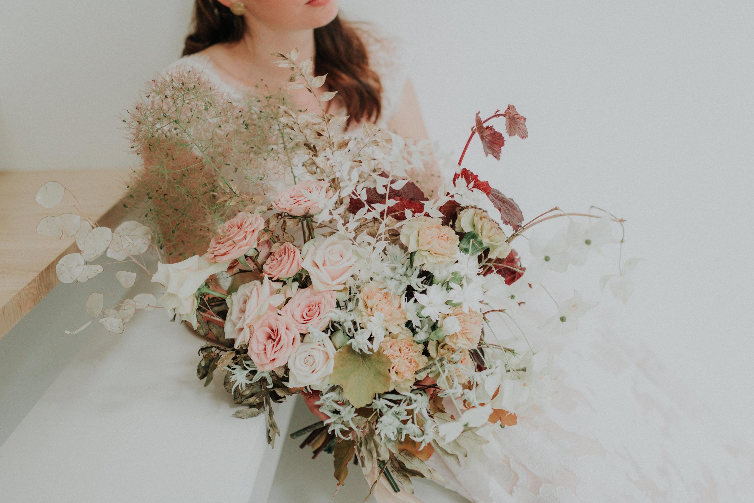 bouquet de la mariee mariage hivernal