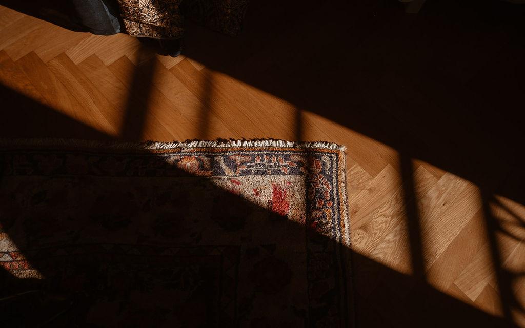 tapis culture indienne lumière details