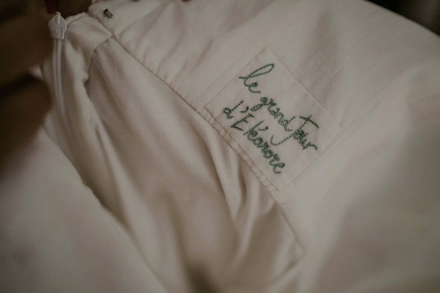 details robe mariage mariee