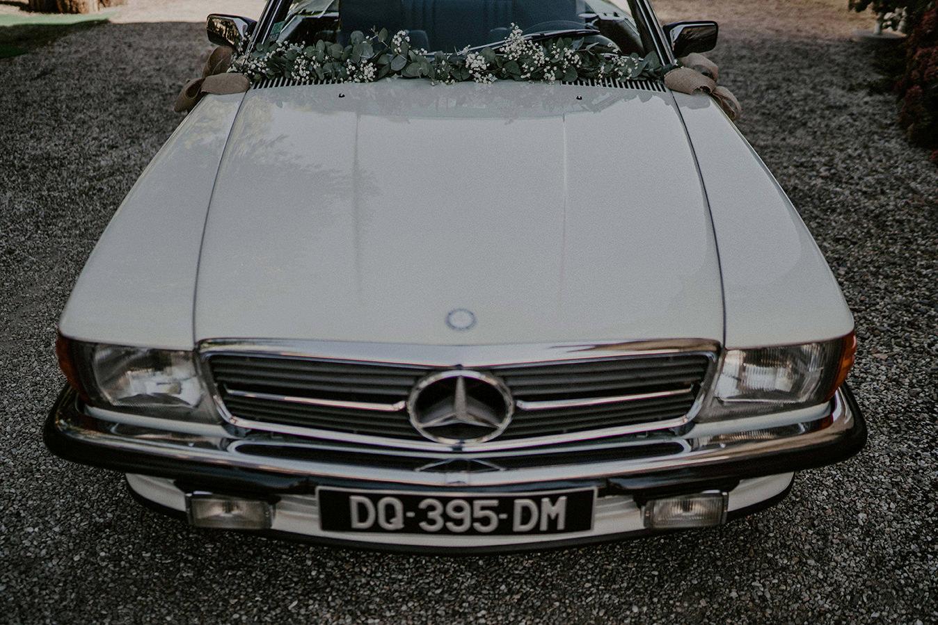 vieille voiture mariage champetre chic