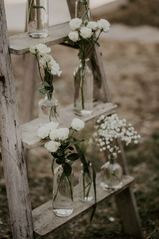 details decoration mariage champetre chic