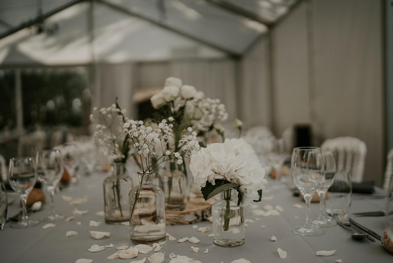 decoration florale table des invites mariage