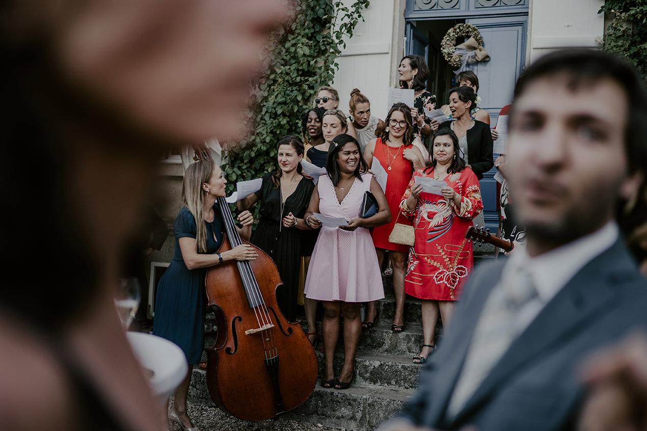 mariage champetre invites musique