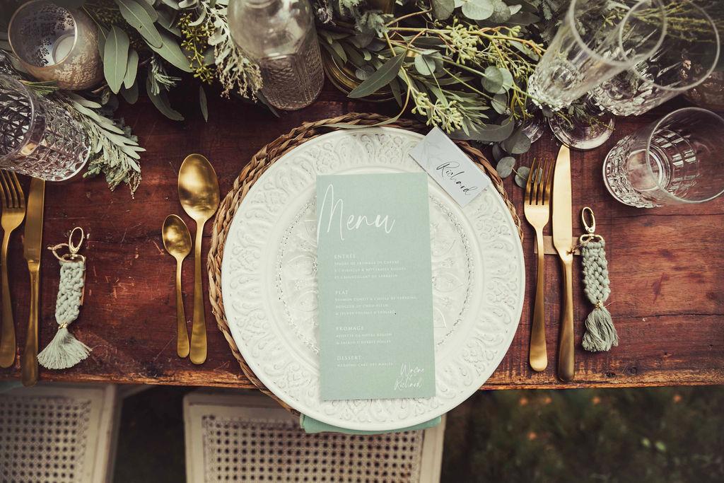 assiettes vaisselle elegante mariage nantes