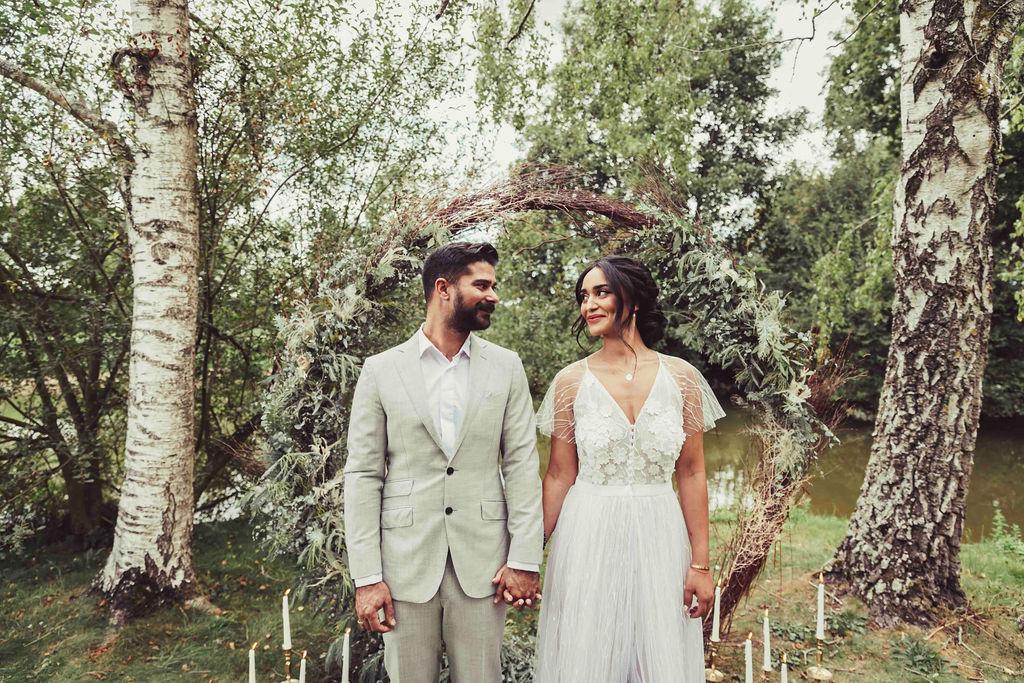 idee arche mariage ceremonie laique naturel vegetale