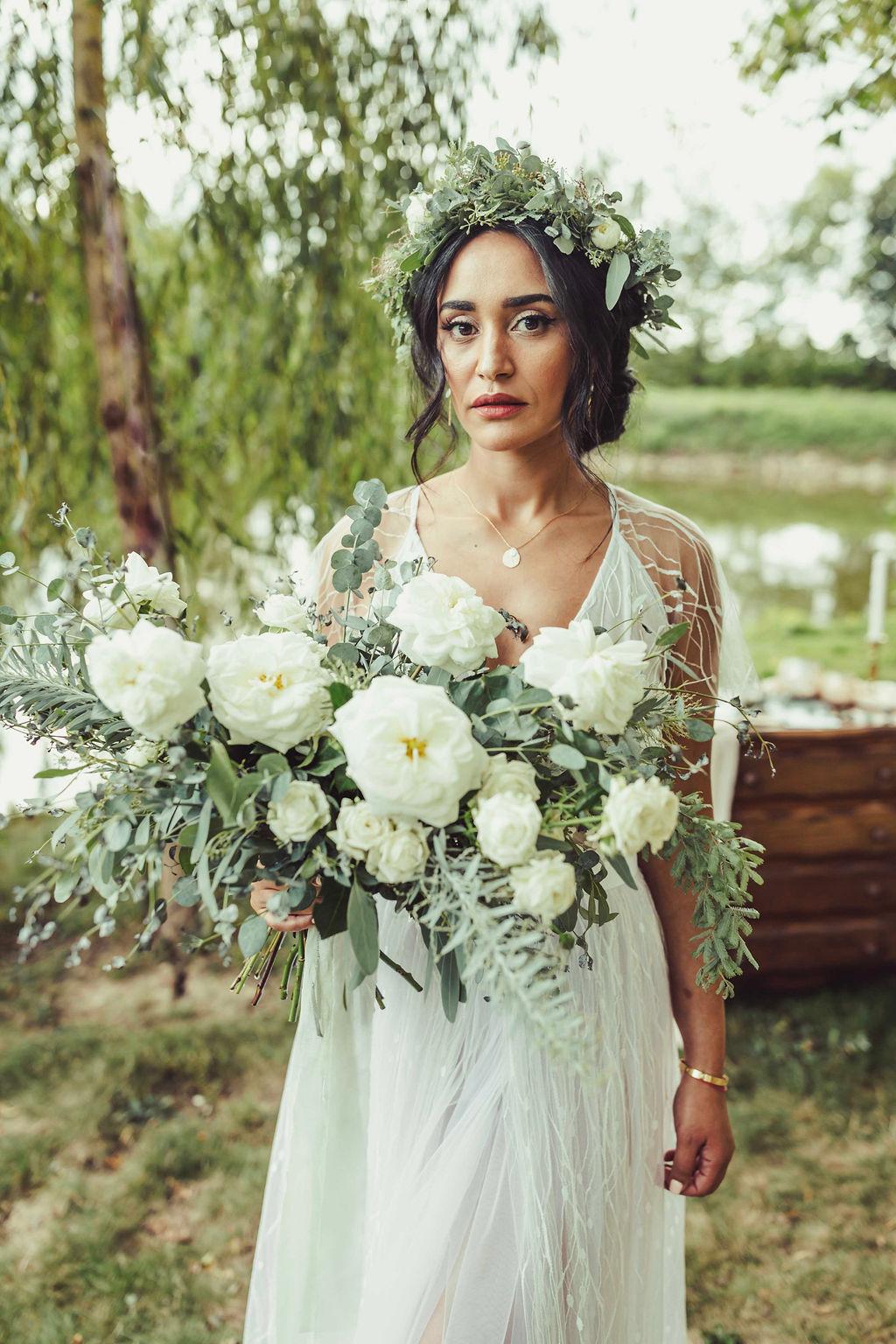 bouquet fleurs sauvage moderne blanc vert nantes Loire Atlantique