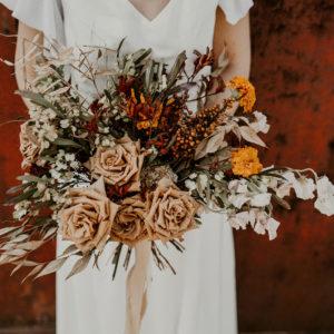 budget fleurs pour un mariage moderne, champetre boheme